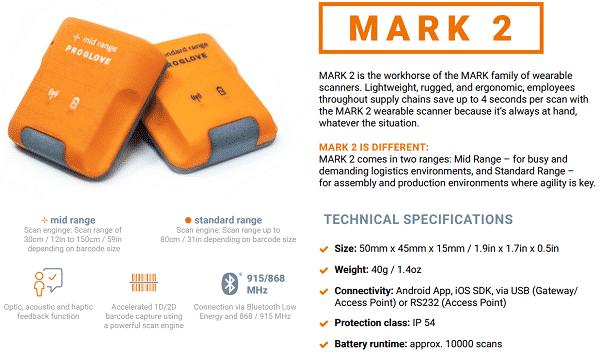 ProGlove Mark 2 omschrijving